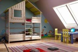 Łóżka piętrowe drewniane Freedom M2L - Wspaniałe Łóżko Domek!!!