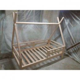 Łóżko TIPI 180 x 90 cm poziome zdejmowane barierki wzmocnione