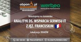 Analityk ds. Wsparcia Serwisu IT z językiem francuskim - Kraków