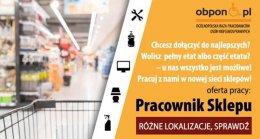 Pracownik Sklepu praca dla osoby z orzeczeniem w Bytomiu (woj. Śląskie)