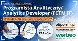 Programista Analityczny - praca w Krakowie