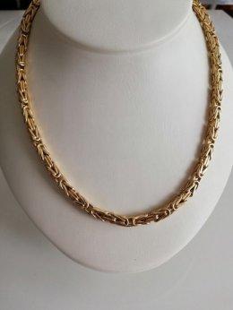 Złoty łańcuszek splot królewski pr 585