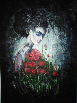 Obraz ręcznie malowany akryl na płótnie 100/70