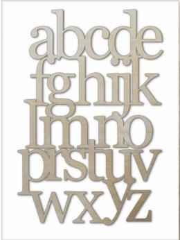 alfabet ze sklejki
