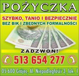 Pożyczka tel 513-654-277