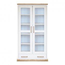 Biała drewniana witryna W-7T z kolekcji Toskania - dostawa cały kraj!