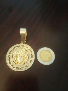 Złota zawieszka w stylu Versace Złoto 585