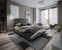 Łóżko hotelowe HUGO 160X200 + MATERAC tapicerowane PRODUCENT