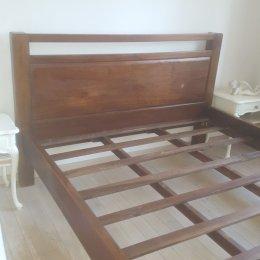 Łóżko Łoże kolonialne RĘCZNE wykonanie DREWNO EGZOTYCZNE 160X200