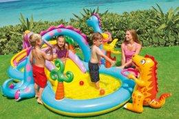 DUŻY WODNY PLAC ZABAW ZE ZJEŻDŻALNIĄ basen dziecięcy dla dzieci baseny
