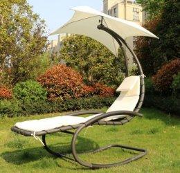 LEŻAK FOTEL BUJANY Z PARASOLEM ogrodowy leżanka do ogrodu huśtawka