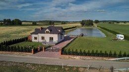 Nowy Dom nad stawem na wsi 132 m2 na działce 8300 m2