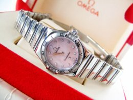 Omega Constellation Diamonds Pink Mother of Pearl