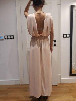 Suknia,sukienka maxi, wesele, impreza, odkryte plecy, sesja ciążowa