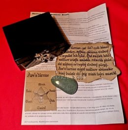 Szkatułka z minerałem awenturyn i bransoletka prezent ezoteryka