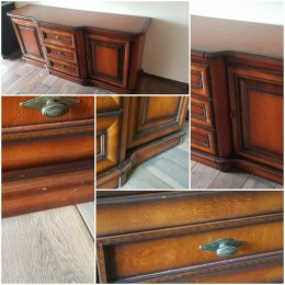 Zestaw mebli drewnianych 7 elementów