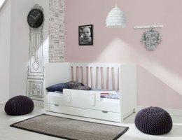 Białe łóżeczko-tapczanik MOON - dwa rozmiary / standard lub szuflada