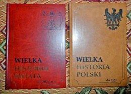 Wielka Historia Polski Świata Pinnex 2 tomy oprawa pseudoskóra
