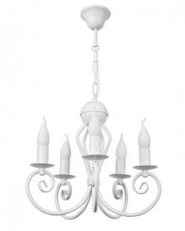 """Stylowa biała lampa klasyczna , żyrandol świecznikowy """"KLIWAS 5"""" 24h!"""