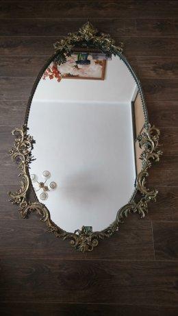 Stare mosiężne lustro z ubiegłego stulecia