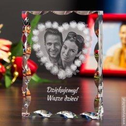 Fotokryształ na ślubne podziękowanie dla rodziców