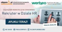 Rekruter w Dziale HR- praca zdalna dla osoby z orzeczeniem o niepełnosprawności