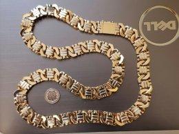 Masywny złoty łańcuch 585