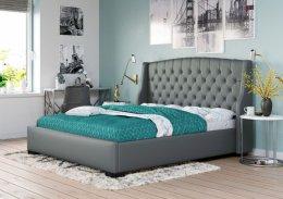 Łóżko Tapicerowane 160X200 SZARE 1177