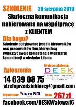 """Szkolenie – """"Skuteczna komunikacja nakierowana na współpracę z klientem' - Tarnów"""