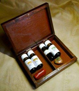 Pudełko na olejki pomarańczowy korzenny czakry jaspis nr 1 na prezent