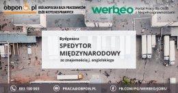 Spedytor Międzynarodowy z j. angielskim praca stacjonarna w Bydgoszczy