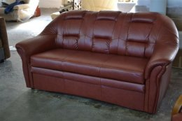 Sofa kanapa rozkładana Haddon prawdziwa naturalna skóra producent