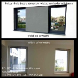 Lustro Weneckie -folia do mieszkań -oklejanie szyb widzisz nie będąc widzianym