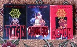 J. Varley Tytan Czarodziejka Demon trylogia science fiction wyd. I krk