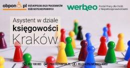 Asystent w dziale księgowości - praca stacjonarna w Krakowie