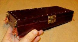 Piórnik drewniany pudełko na drobiazgi kowbojskie na prezent