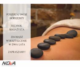 Technik masażysta z certyfikatem fizjoterapii i rehabilitacji sportowej w CE Nova