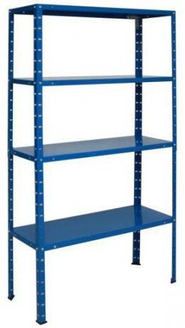 Regał Metalowy Do Garażu 145x75x30 4 Półki 50KG