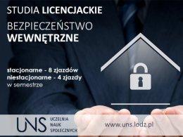 Bezpieczeństwo wewnętrzne - studia licencjackie