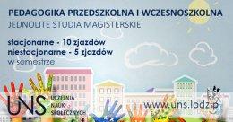 Pedagogika przedszkolna i wczesnoszkolna - studia jednolite