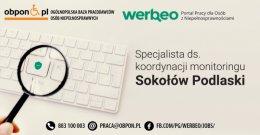 Specjalista ds. koordynacji monitoringu - praca stacjonarna w Sokołowie Podlaskim