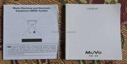 Creative muvo TX SE instrukcja obsługi do mp3 player oryginał PL