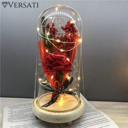Wieczna Róża Versati w Szkle LED – Idealny Prezent