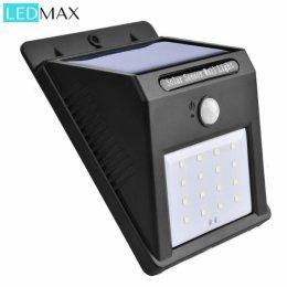 Zewnętrzna inteligentna lampa LED LEDMax – wodoodporna na energię słoneczną z czujnikiem ruchu