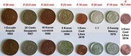 1 Escudo i inne monety świata 8 szt.