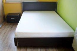 Sypialnia VOLTERA wenge łóżko stelaż 140x200 stolik nocny komoda półka
