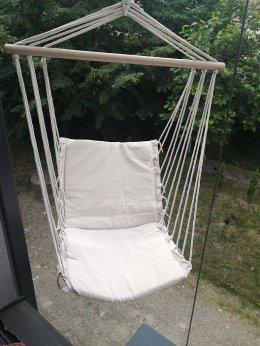 Ogrodowa huśtawka Fotel wiszący Beżowy