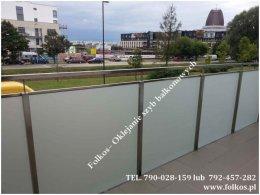 Folie balkonowe- Oklejanie balkonów Warszawa - folia matowa na balkon