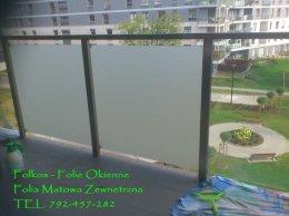 Folkos folie matujące na balkon Warszawa- Folie matowe balkonowe Oklejanie