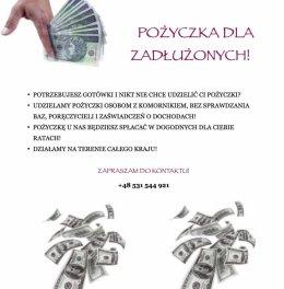 Pożyczka dla zadłużonych!